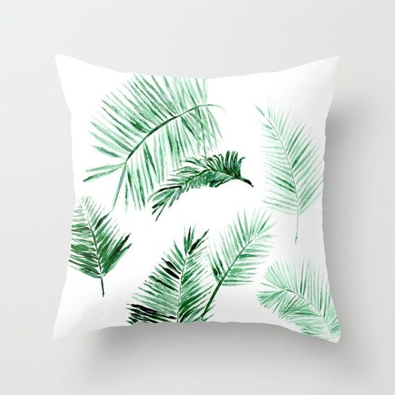 palm leaves outdoor throw pillow cover palm outdoor pillow modern throw pillow palm leaf pillow palm leaves pillow tropical pillow