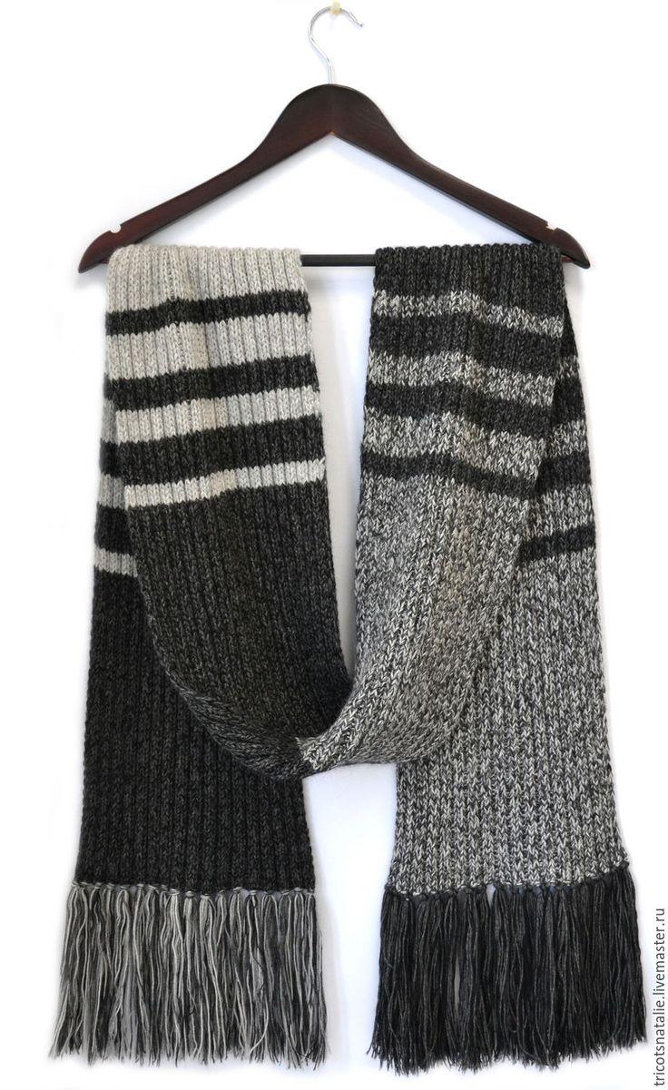 схема мужской шарф крючком