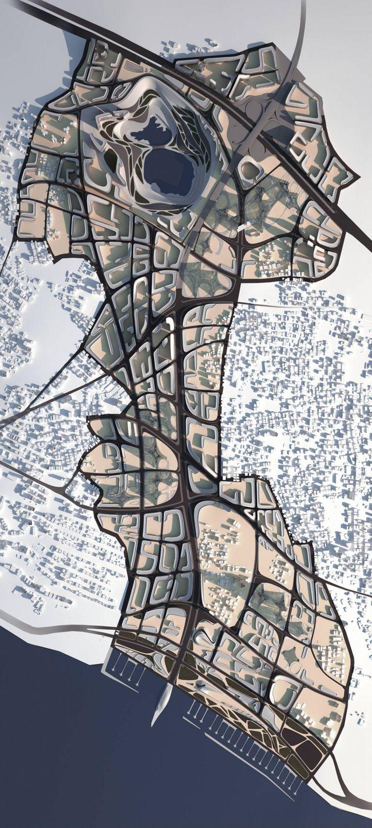 Zaha Hadid (1950 – 2016) Architects | Kartal Masterplan | Istanbul, Turkey 2006.