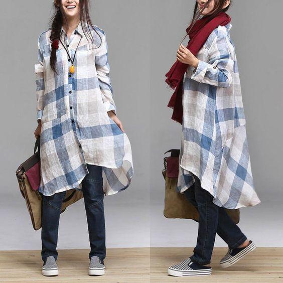 plaid shirt dress hijab style- Hijab trends 2016 http://www.justtrendygirls.com/hijab-trends-2016/