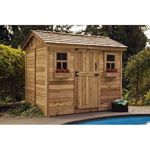 beautify your residence or office by attaching this classic collection from outdoor living today cabana western red cedar garden shed