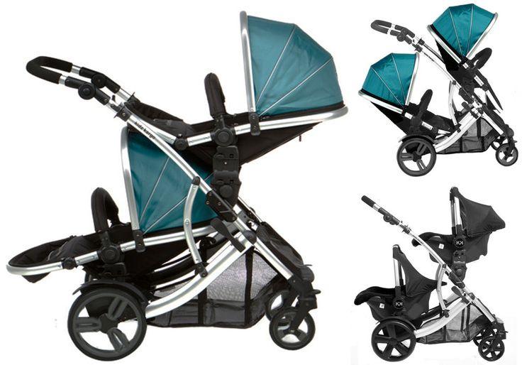 POUSSETTE DOUBLE 2 bébés, 2 enfants d'âges rapprochés ou 1 bébé/1 enfant