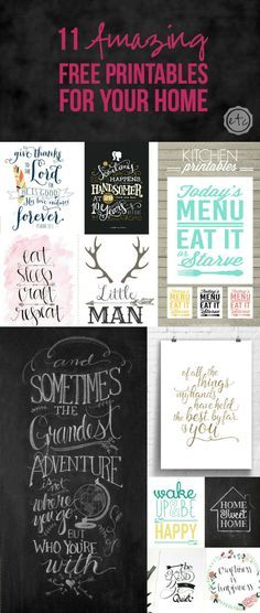 11 Amazing Free Printables for Your Home with Happily Ever After, Etc