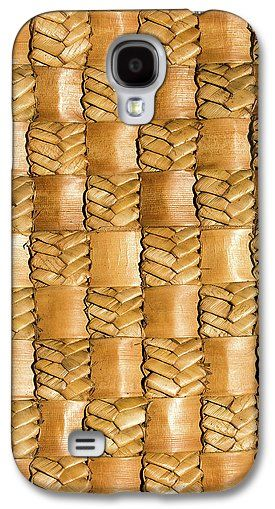 Flax Galaxy S4 Case featuring the photograph Weaving Flax - Gold by Wairua o te Moana