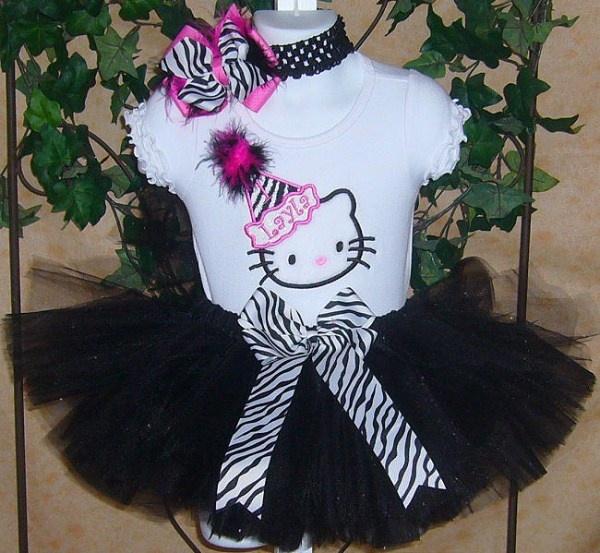 Hello Kitty The Zebra Diva Birthday Tutu Outfit