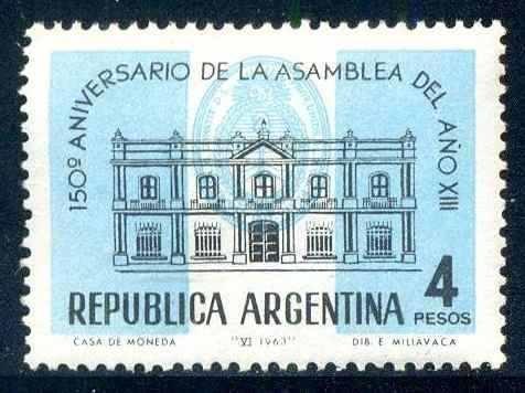 Estampilla Argentina de 1963