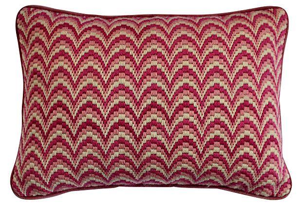 Pink Bargello Pillow on OneKingsLane.com