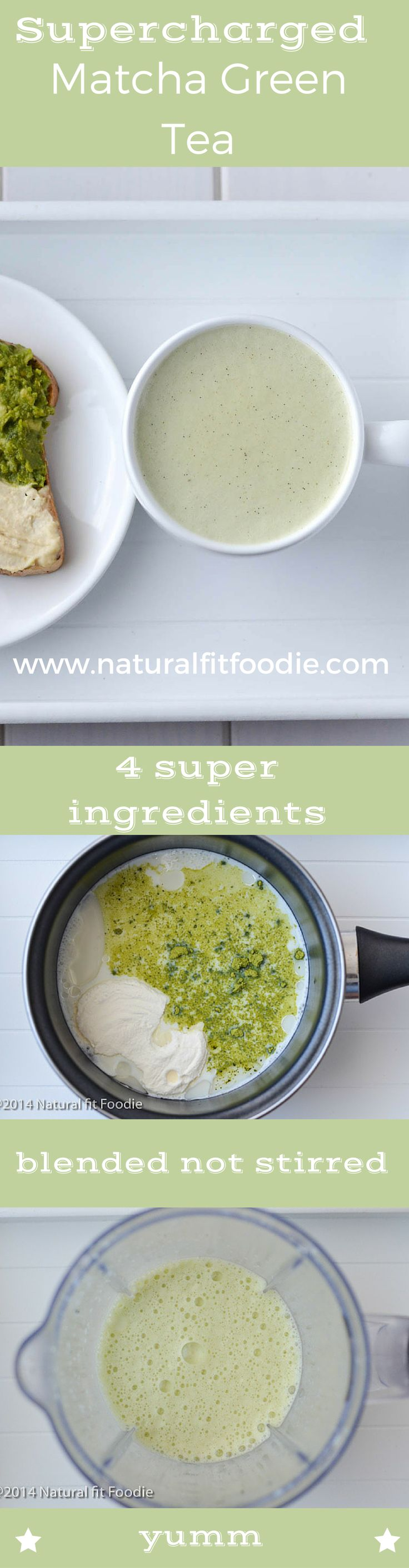 Matcha Green Tea Recipe - This Supercharged Matcha Green Tea is a delicious way to add powerful health benefits to your everyday diet! It's your gut healing, energy boosting meal in a cup!