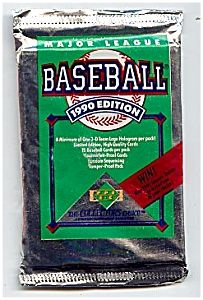 1990 Upper Deck Baseball Cards, Series One, Four unopened packs!