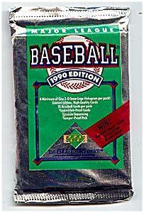1990 Upper Deck Baseball Cards, Series One, Four unopened packs!