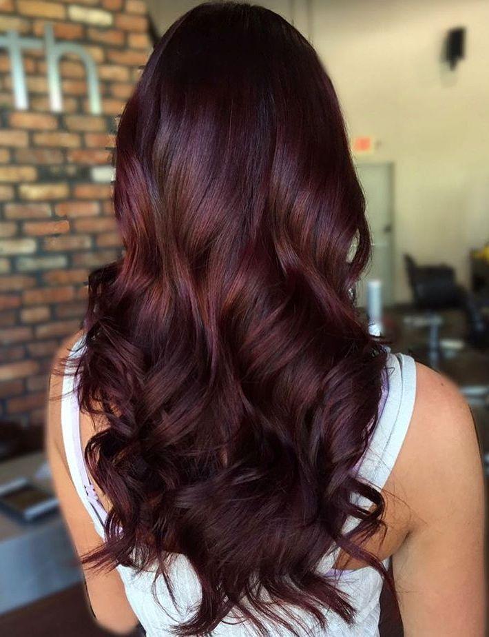 long curly mahogany hair - La Rich Coloration