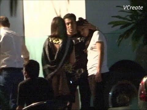 Katrina Kaif seen taking comfort on Salman Khan's shoulder.