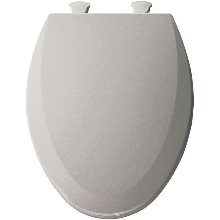 Bemis 1500EC162 Molded Wood Elongated Toilet Seat With Easy Clean and Change Hinge Silver 529611