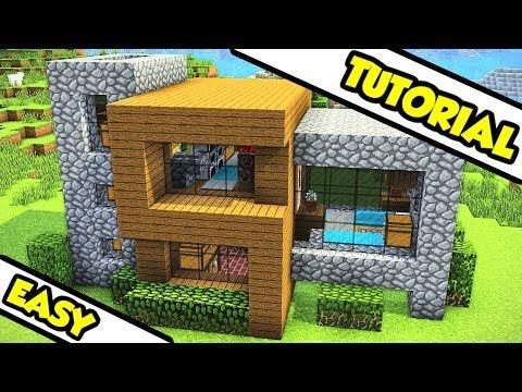 Minecraft Survival Modern House Tutorial How To Build Youtube Minecraft Modern House Blueprints Minecraft Underwater House Minecraft House Tutorials