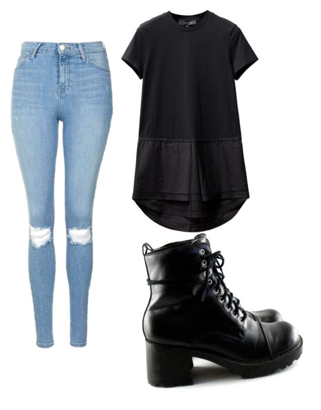 """Untitled #46"" by kristyna-r on Polyvore featuring Topshop"