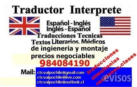 Ingles Traductor Interprete Translator Spanish English Proporcionamos asistencia a  .. http://santiago-city-2.evisos.cl/ingles-traductor-interprete-translator-spanish-english-id-616687