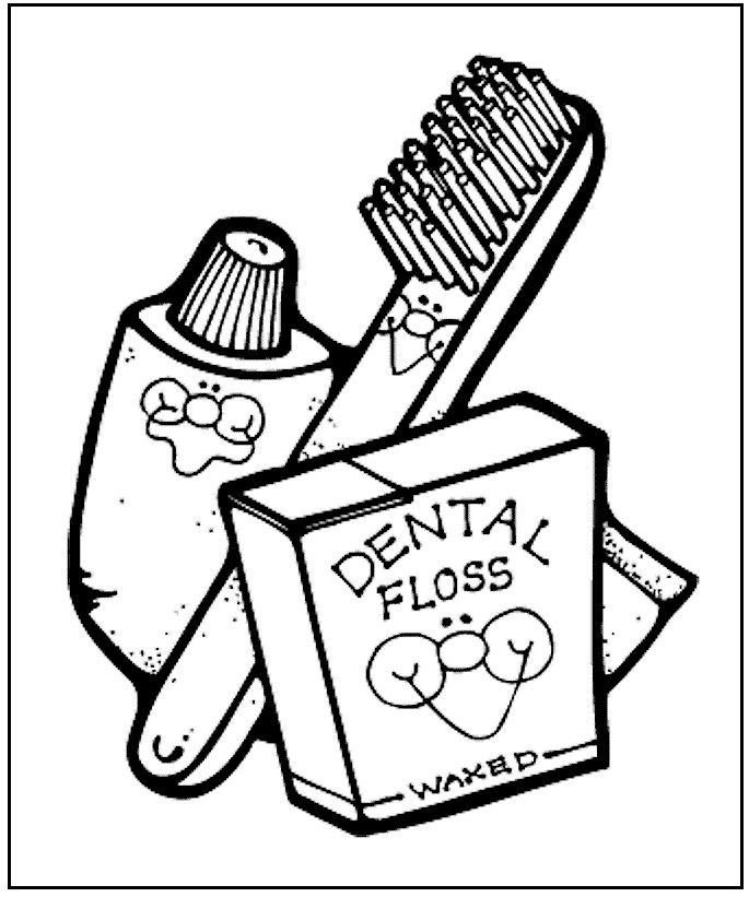dental health coloring page