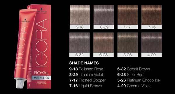 Schwarzkopf Professional S Igora Royal Goes Metallic Schwarzkopf Hair Color Chart Schwarzkopf Hair Schwarzkopf Hair Color