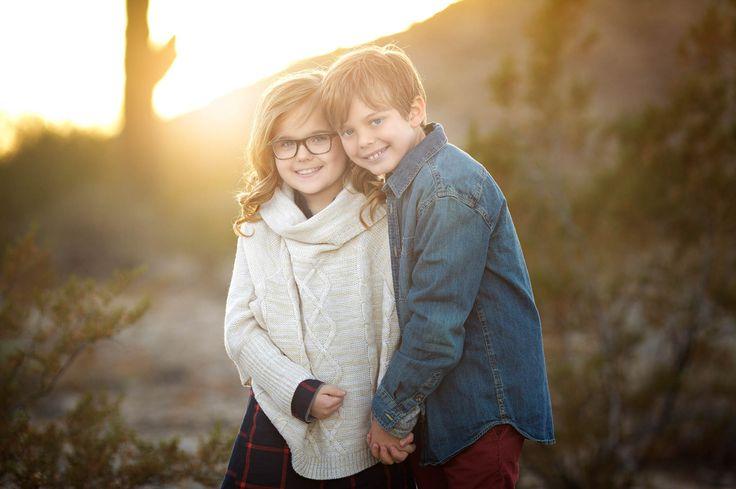 Sibling Photography taken at sunst in the desert near Scorpion Gulch in Phoenix, Arizona