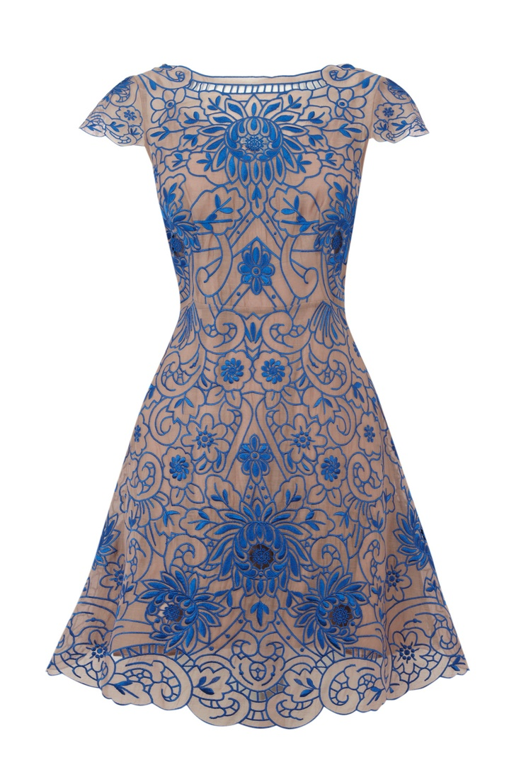 Hydrangea dress, those hues of blue.
