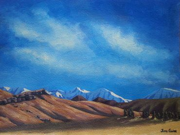 Craigieburn Range View Acrylic by Jane Guise