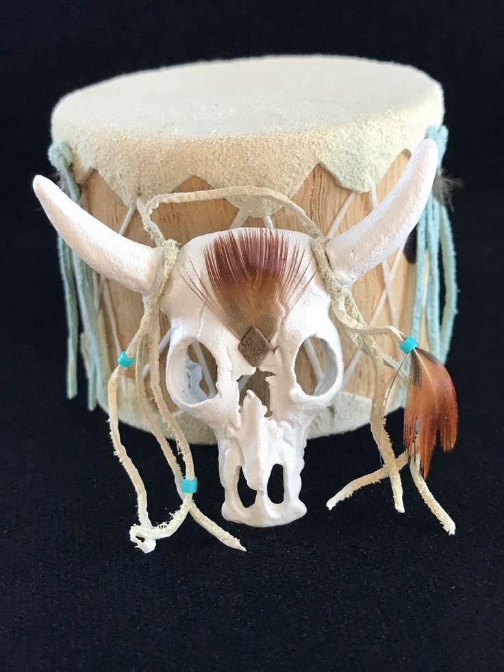 Miniature Dollhouse Artisan Crafted Steer Skull Southwestern Wall Sculpture #ArtisanMade