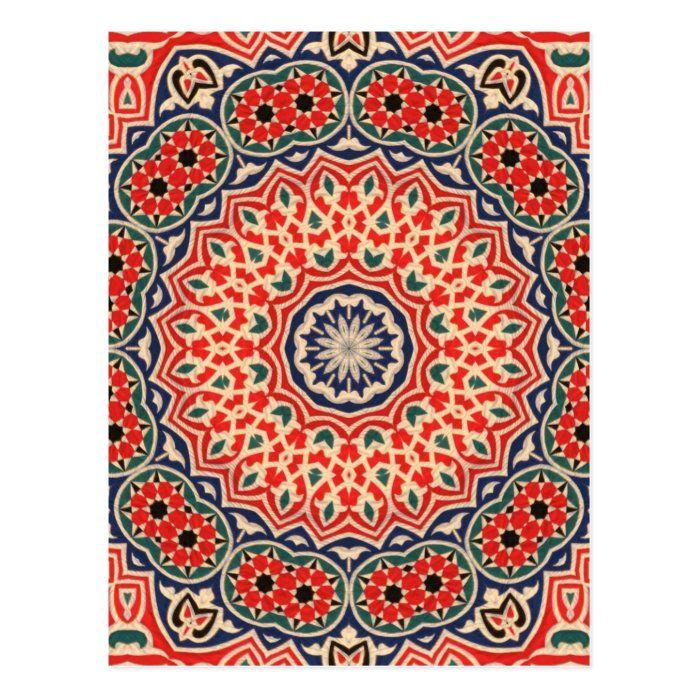 Khayameya Postcard Zazzle Com In 2021 Islamic Art Pattern Egyptian Applique Art Ramadan Crafts