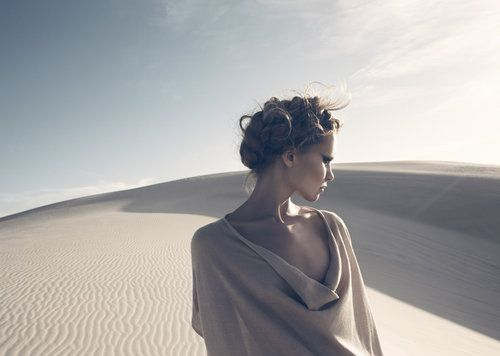 Awesome Model Photography | Beautiful model in desert with dunes | Murray Mitchell