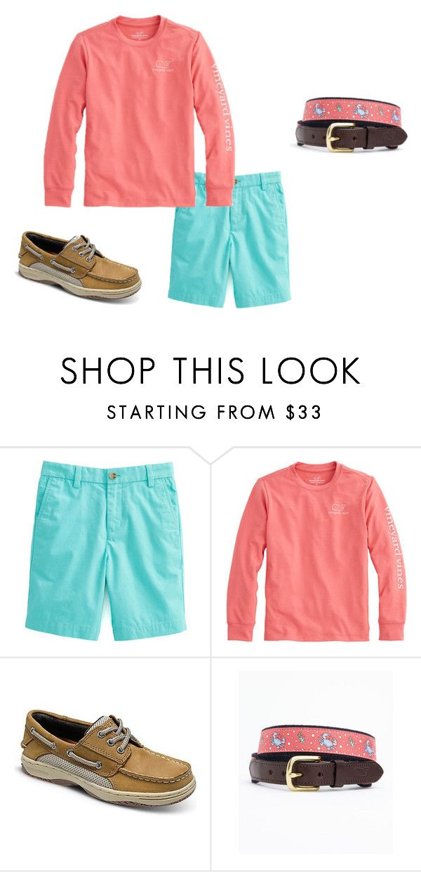 """""""Boys Preppy 24"""" by tobyla on Polyvore featuring Vineyard Vines, men's fashion, menswear, vineyardvines, sperry, whales, VV and teenboys"""