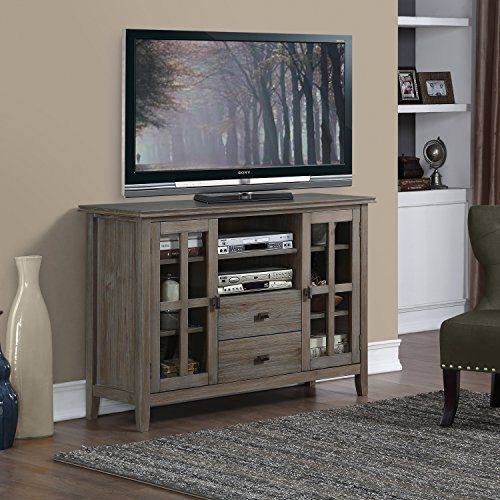 Simpli Home Artisan Tall TV Media Stand, Grey  http://www.furnituressale.com/simpli-home-artisan-tall-tv-media-stand-grey-2/