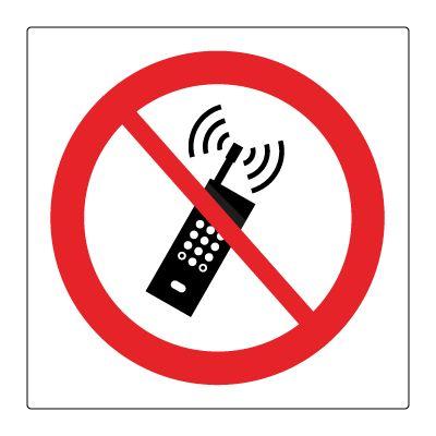 Mobiltelefon forbudt piktogram - Bestill Forbudsskilt