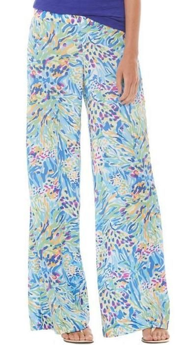 Lilly Pulitzer Middleton Palazzo Wide Leg Pant in Sea Soiree