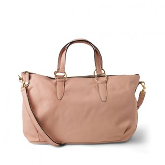 IT LONDON: Classic nude leather shoulder and handbag.