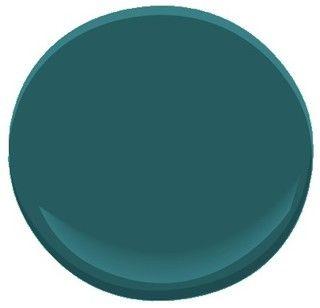 """dark teal 2053-20 Paint - Benjamin Moore """"Dark Teal"""""""