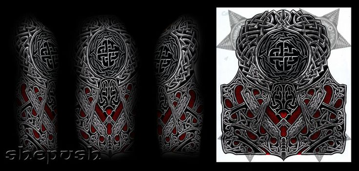 Celtic style half sleeve by shepush.deviantart.com on ...