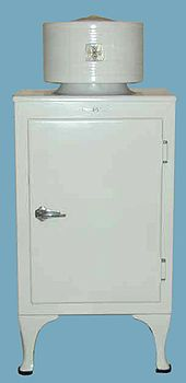 """Refrigerators were made for the home starting in 1913, so they were still a very new tech by the 20s. They usually were more expensive than a Model-T Ford. The first refridgerator to see widespread use was the GE """"Monitor-Top"""" Refridgerator, named so because the top looked like the gun turret of the USS Monitor of the 1860s. The introduction of Freon in the 1920s also provided a safer, less toxic alternative to previous refridgerants."""