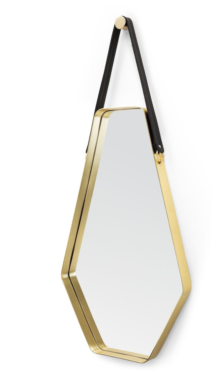 The Cora Large Mirror, in Black and Gold. A statement mirror designed in house, by MADE Studio. £129. MADE.COM