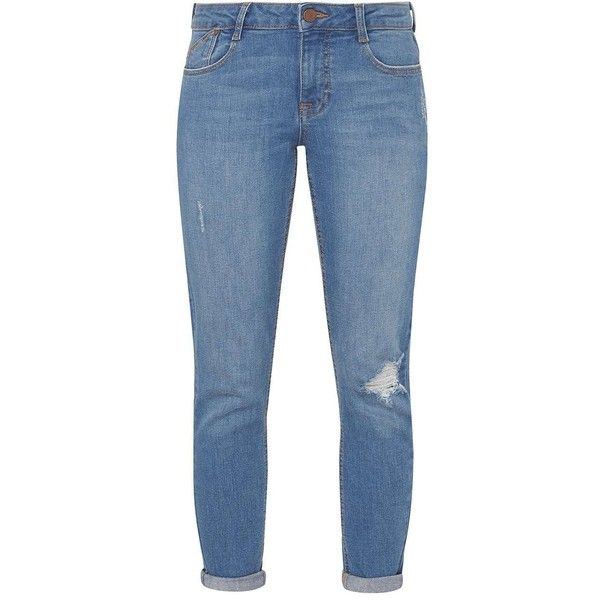Dorothy Perkins Petite Harper Mid Wash Roll Up Skinny Jeans ($27) ❤ liked on Polyvore featuring jeans, blue, petite, dorothy perkins, mid wash jeans, denim skinny jeans, petite skinny jeans and dorothy perkins jeans