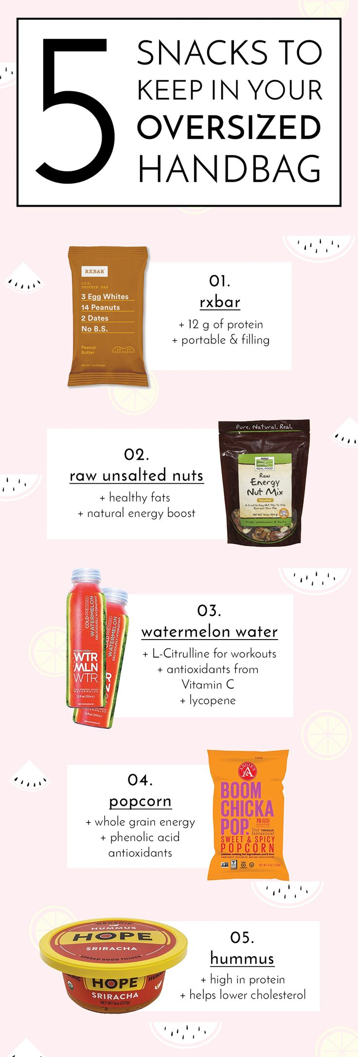 ::You should ALWAYS have healthy on the go snacks. You know, snacks for when you're hangry but don't want a bag of chips. Check out my top 5 snacks!::