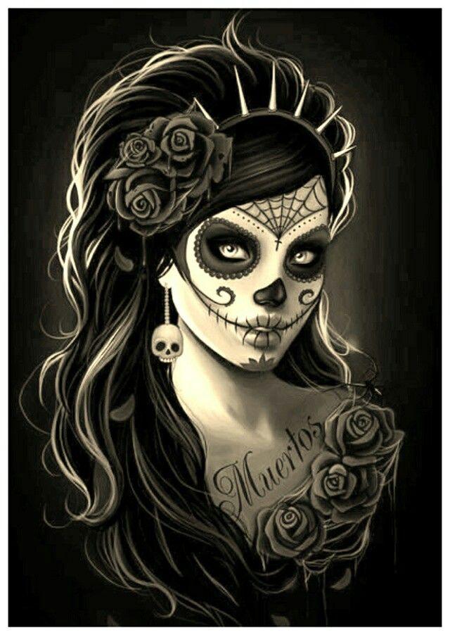 ♥ gostei dessa catrina gótica...