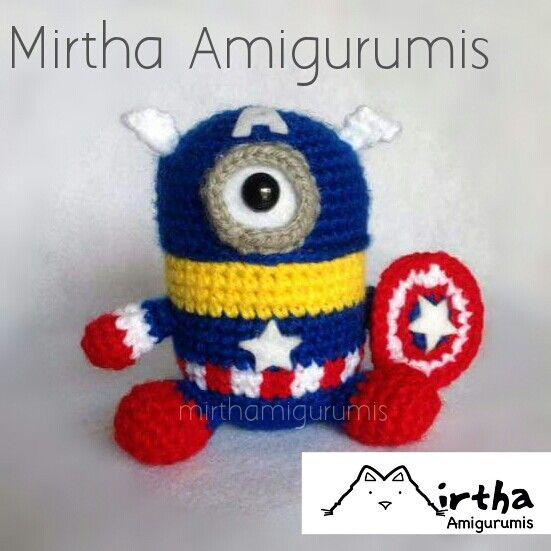 Minion Captain America Amigurumi : 1000+ images about Minion on Pinterest Minion crochet ...