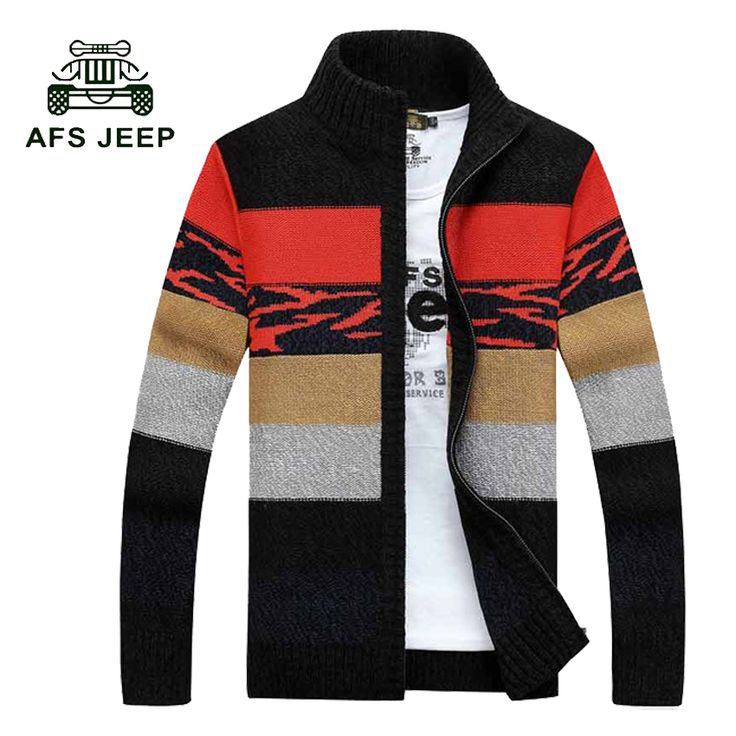New Men Striped Sweater 2017 Famous Brand Cardigans Zipper Sweater Men Colourful Turtleneck Knitted Cardigan Masculino 75wy