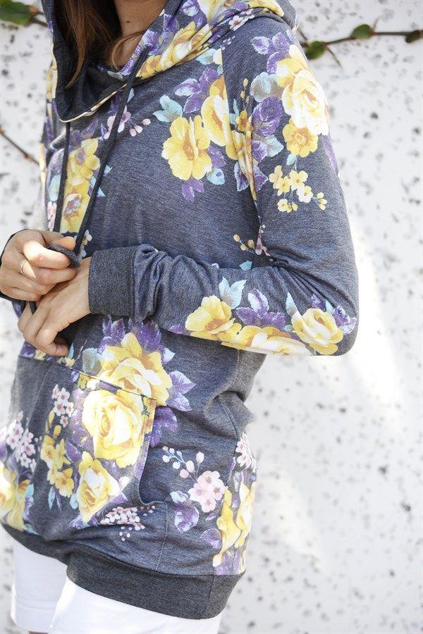 Floral Hoodie | S-XL