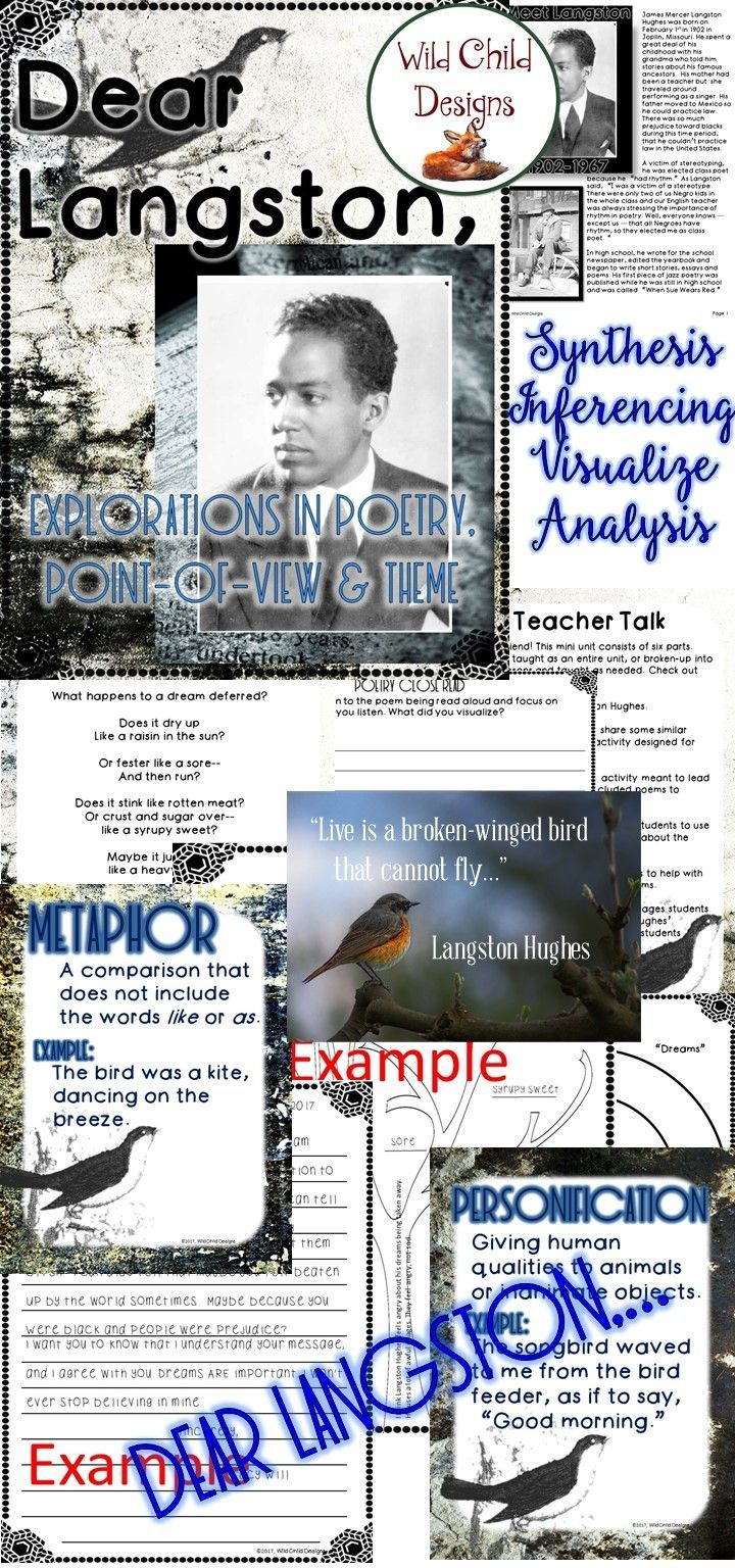 Poetry IS complex text! This is the perfect way to celebrate Black History Month and cultivate critical-thinking skills (synthesis, visualization, inference and analysis) with your students. This mini-unit includes some very novel approaches to digging for meaning. Visit Wild Child Designs today!
