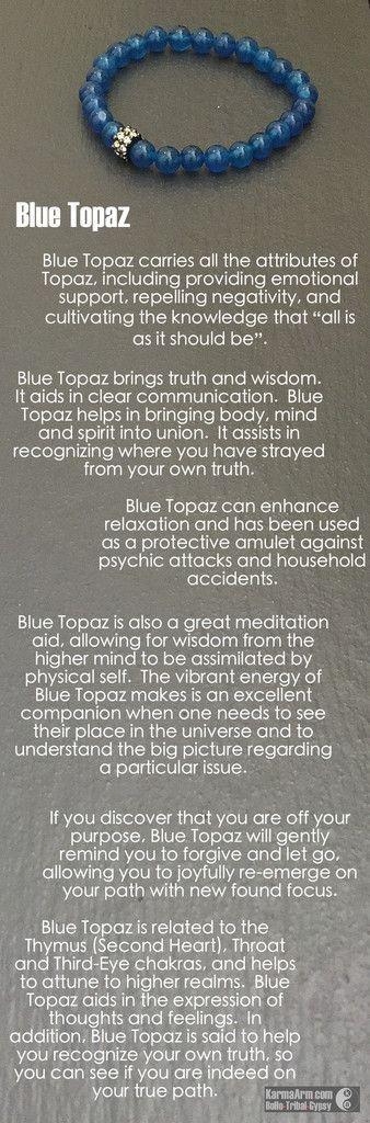 MANTRA: I believe in myself. - 8mm Sri Lanka Blue Topaz Natural Gemstones - Gunmetal Swarovski Rondelle - Commercial Strength, Latex-Free Elastic Band - Artisan Crafted in our West Hollywood Studio Re