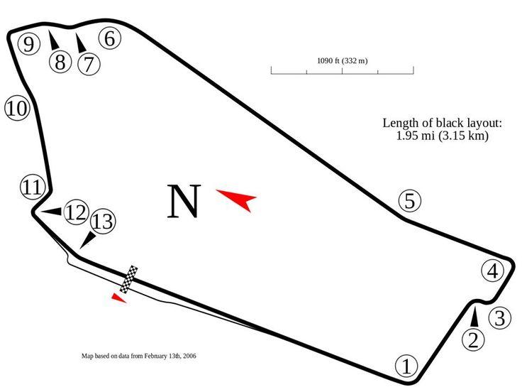 Sandown Raceway, Melbourne, used for the 1964, 1968, 1972, 1973, 1976 and 1978 Australian Grand Prix.