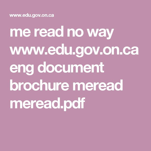 me read no way; A practical guide to improving boys' literacy skills  www.edu.gov.on.ca eng document brochure meread meread.pdf