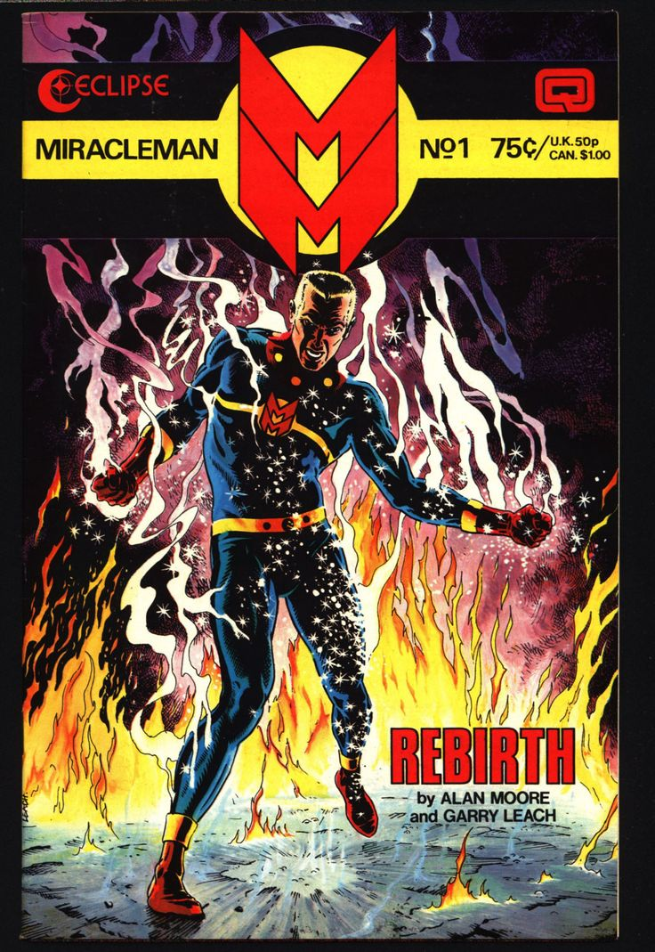 MIRACLEMAN Marvelman #1 eclipse comics 1985 ALAN MOORE Anti-Superhero Mick Angelo Alan Davis Garry Leach