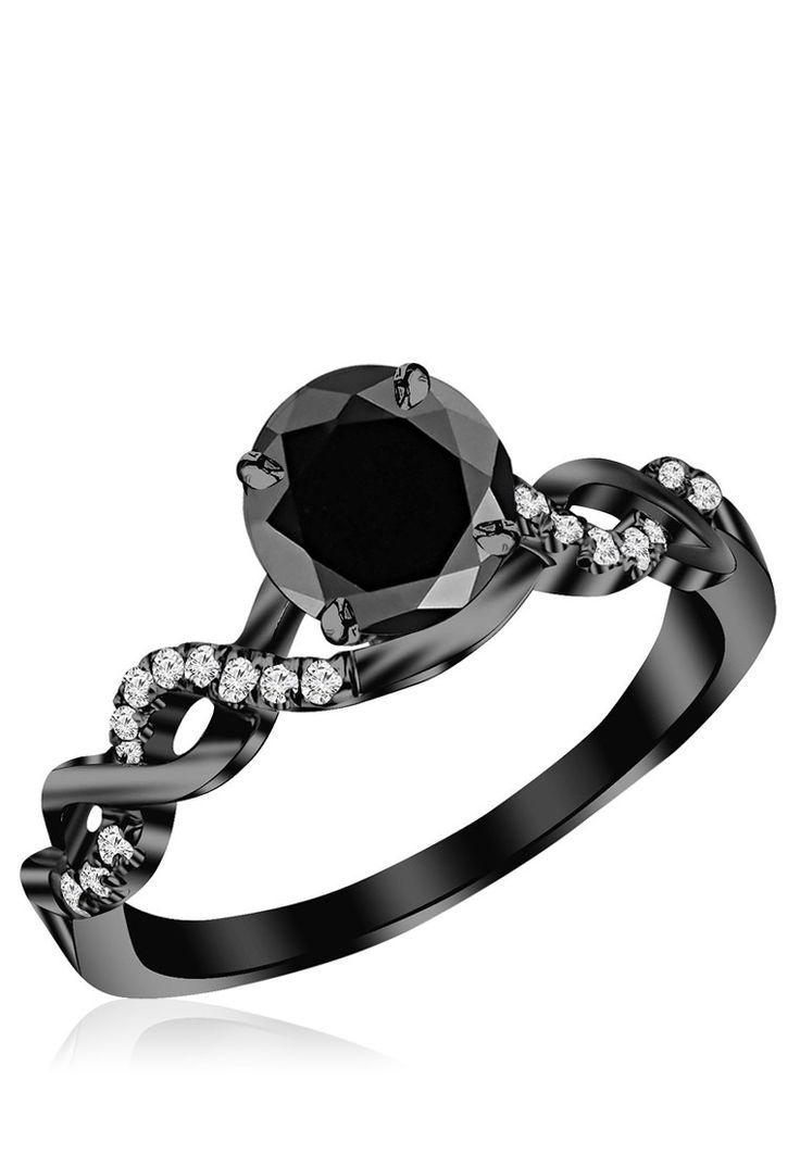 Dark Smoke Grey 92.5 Sterling Silver Ring
