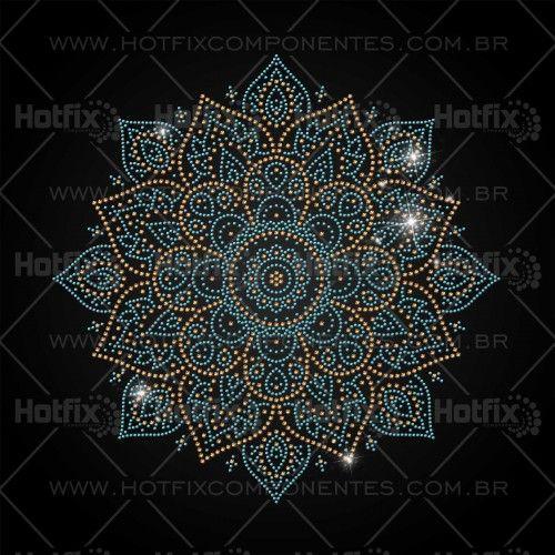 Strass Hotfix Mandala - Ref.: 1413